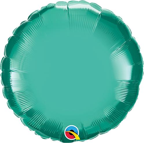 """18"""" Chrome Green Circle Foil Balloon"""