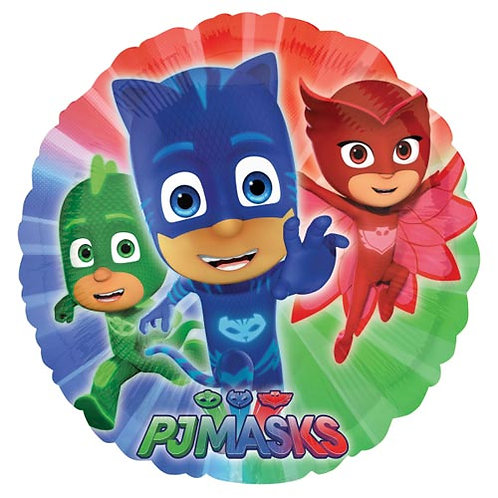 "Pj Masks 18"" Foil With 2 Latex To Match"