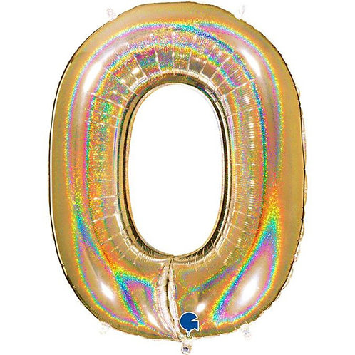 """Holo Glitter Gold 34"""" 0-9 Foil Numbers"""
