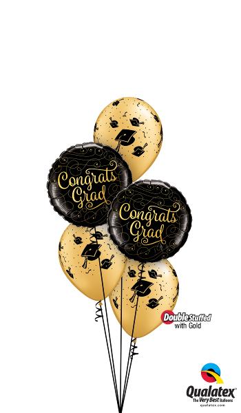 Congrats Grad Foil & Latex Cluster