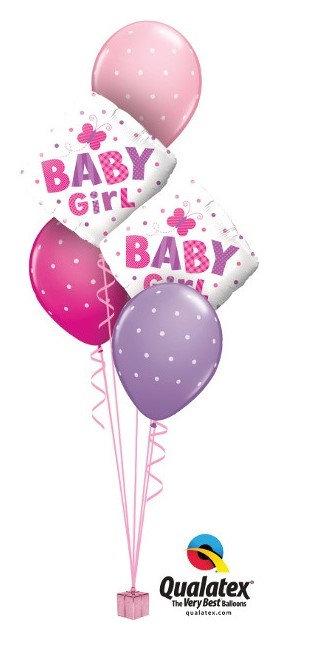 Baby Girl Foil & Latex Cluster