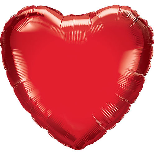 """Personalised - Red 18"""" Foil Heart"""