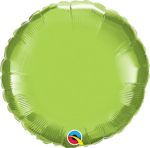 "18"" Lime Green Circle Foil Balloon"