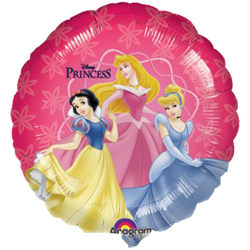 """Disney Princess 6 18"""" Foil With 2 Latex To Match"""