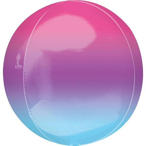 Purple,Pink & Blue Ombre Orbz Balloon