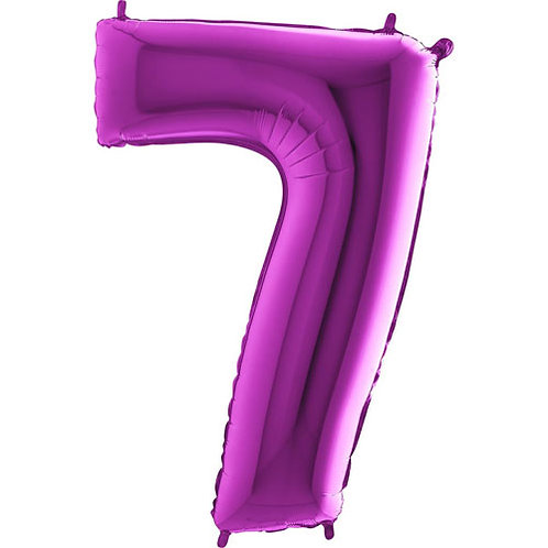 "Purple 34"" 0 - 9 Number Foils"