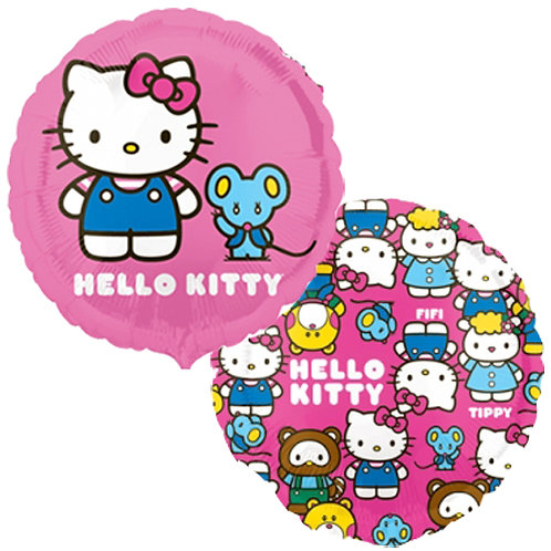 "Hello Kitty 18"" Foil With 2 Latex To Match"