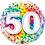Thumbnail: Aged 18 - 100 Foil & 2 Latex Balloon Cluster