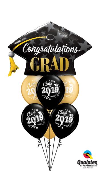 Large Graduation Foil & Latex Cluster