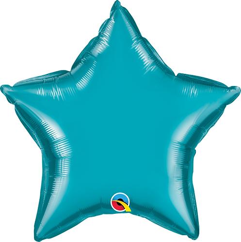 """18"""" Teal Star Foil Balloon"""
