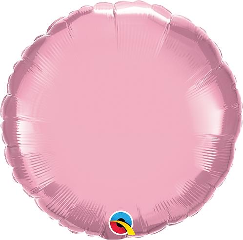 """18"""" Pastel Pink Circle Foil Balloon"""