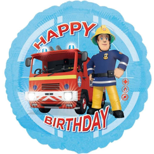 "Fireman Sam 2 18"" Foil With 2 Latex To Match"