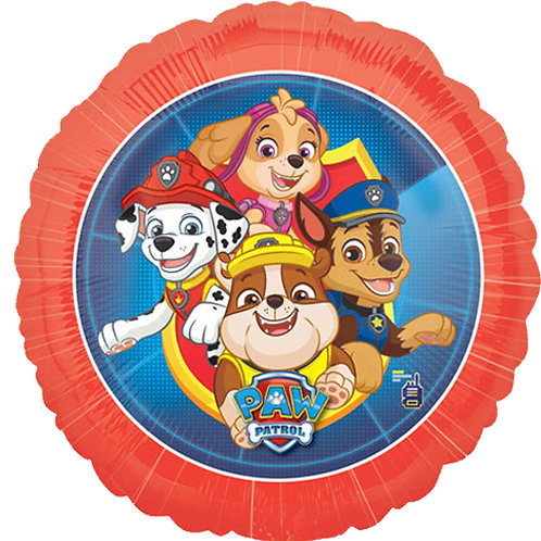 "Paw Patrol 2  18"" Foil With 2 Latex To Match"
