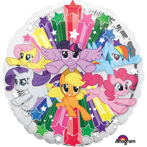 "My Little Pony 3 18"" Foil With 2 Latex To Match"