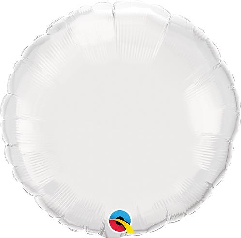 """18"""" White Circle Foil Balloon"""