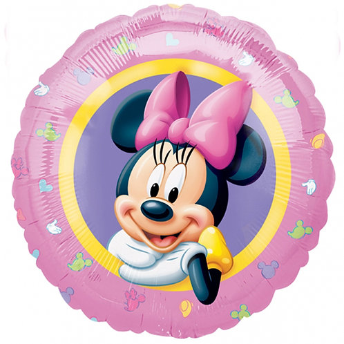 """Minnie Mouse 5 18"""" Foil With 2 Latex To Match"""