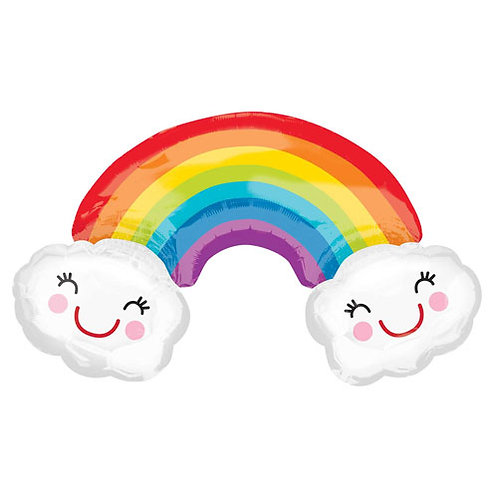 Happy Rainbow Clouds Foil