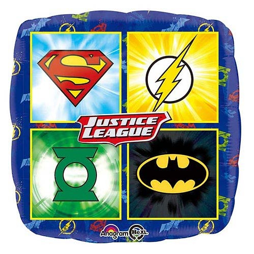 "Justice League 18"" Foil With 2 Latex To Match"