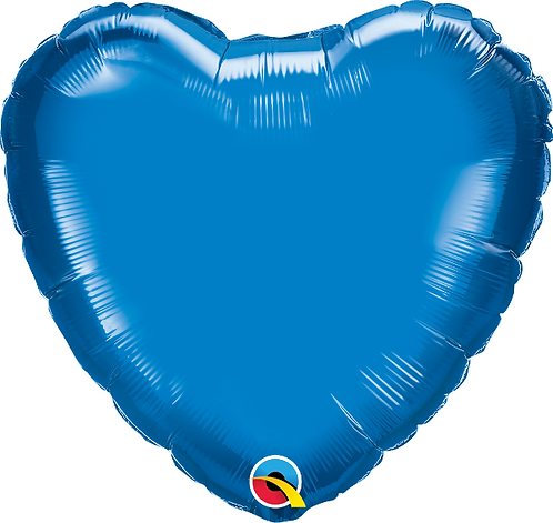 "18"" Blue Heart Foil Balloon"