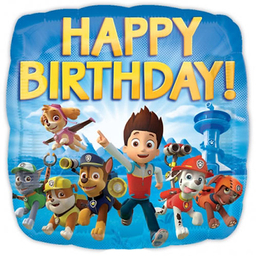"Paw Patrol 3 Birthday 18"" Foil With 2 Latex To Match"