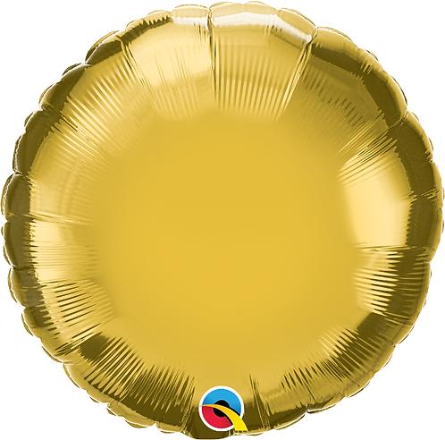 "18"" Gold Circle Foil Balloon"