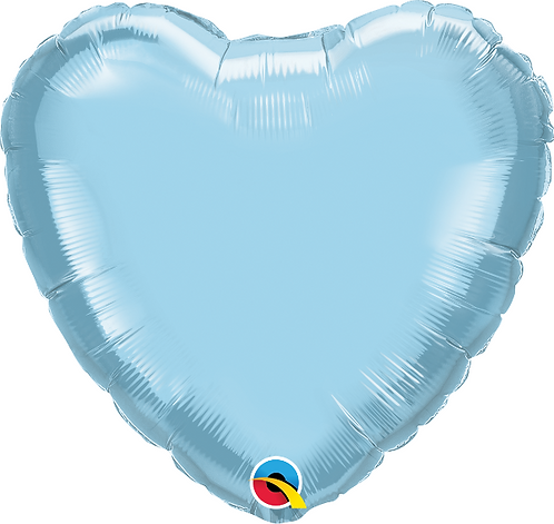"18"" Pastel Blue Heart Foil Balloon"