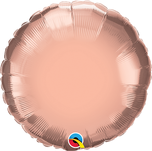 "18"" Rose Gold Circle Foil Balloon"