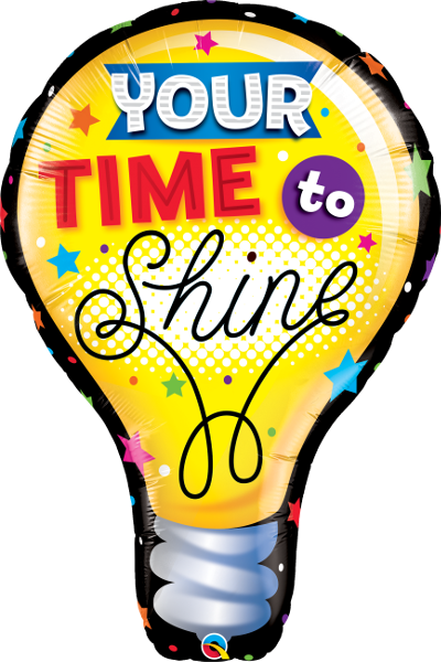 Large Time To Shine Light Bulb Foil Balloon