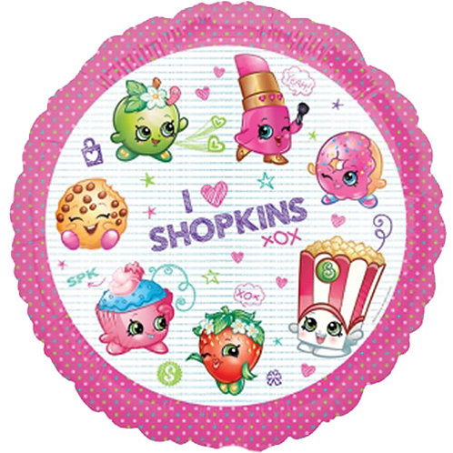 """Shopkins 18"""" Foil With 2 Latex To Match"""