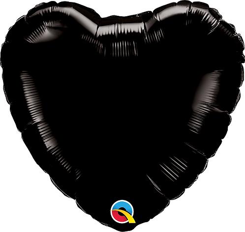 """18"""" Black Heart Balloon"""