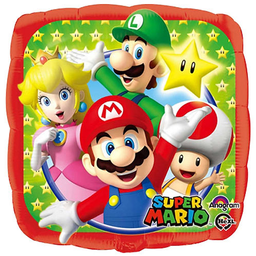 """Mario 18"""" Foil With 2 Latex To Match"""