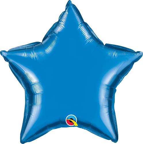"18"" Blue Star Balloon"