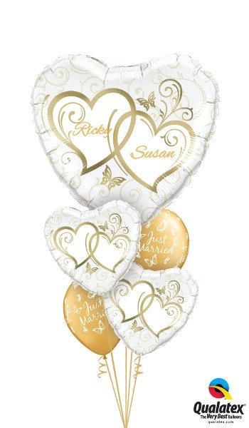 Golden Heart Large Foil & Latex Cluster