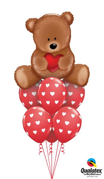 Large Teddy Bear Balloon Cluster