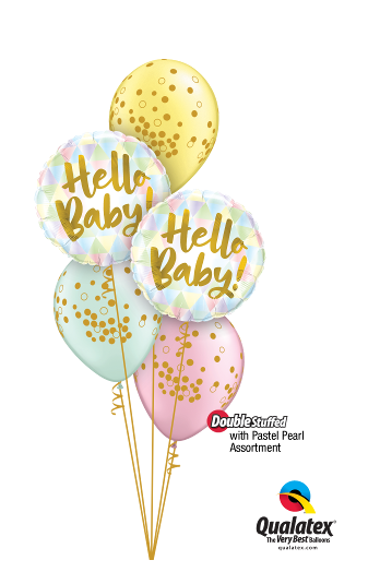 Welcome Baby Foil & Latex Cluster