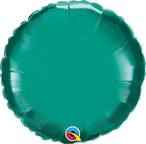 """18"""" Emerald Green Circle Foil Balloon"""
