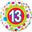 Thumbnail: Aged 6 - 13 Foil & 2 Latex Balloon Cluster