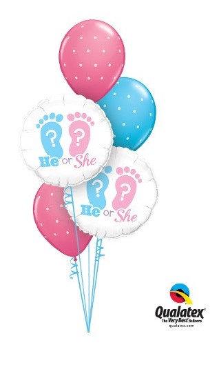 Gender Reveal Balloons Cluster