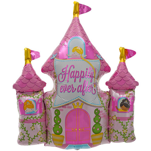 Pink Happy Ever After Castle Foil