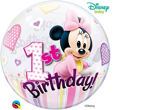 Minnie Mouse 1st Birthday Bubble Balloon