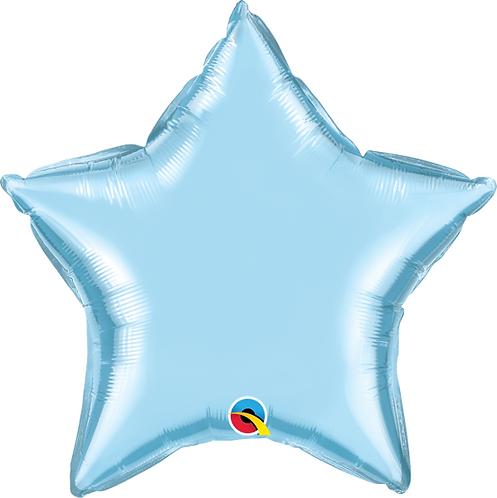 "18"" Pastel Blue Star Foil Balloon"