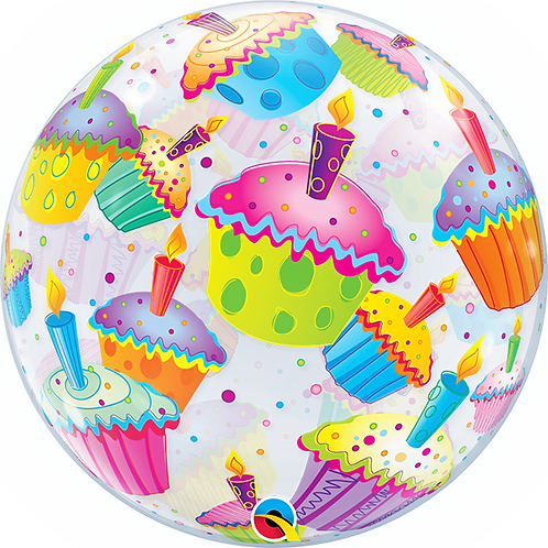 Cup Cake Party Bubble Balloon
