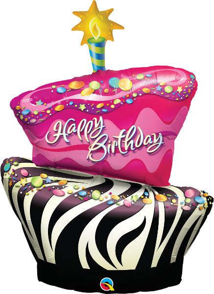 Large Birthday Cake Foil Balloon