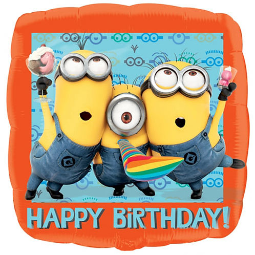 """Minions  18"""" Foil With 2 Latex To Match"""