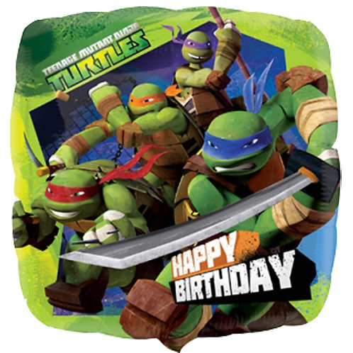 "Teenage Mutant Ninja Turtles 18"" Foil With 2 Latex To Match"