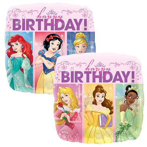 """Disney Princess 3 18"""" Foil With 2 Latex To Match"""