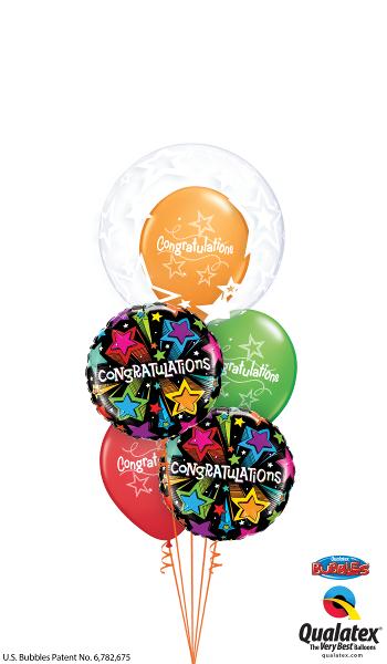 Congratulations Bubble, Foil & Latex Balloon