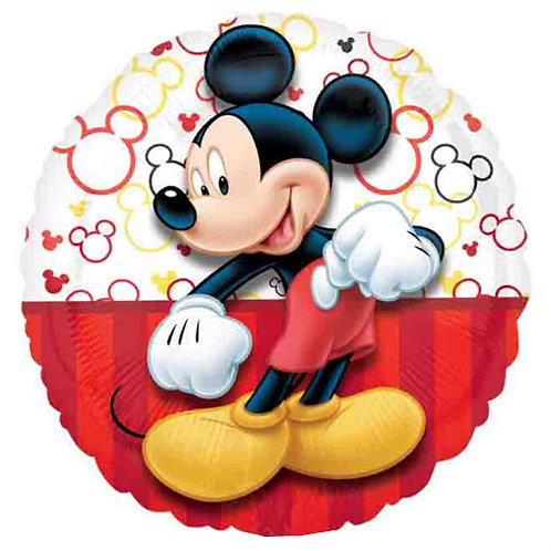 """Mickey Mouse 1  18"""" Foil With 2 Latex To Match"""