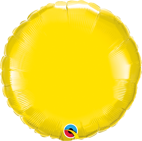 "18"" Yellow Circle Foil Balloon"