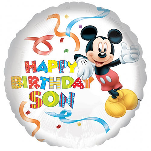 "Mickey Mouse Birthday 18"" Foil With 2 Latex To Match"